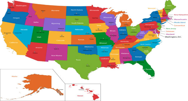 Top 10 states with substance abuse counselor problems