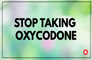 How to stop taking oxycodone