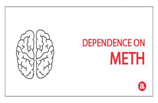 Dependence on meth