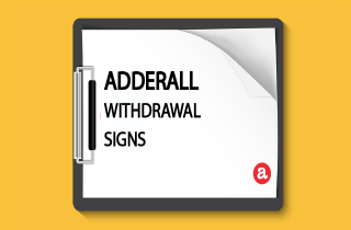 Adderall withdrawal signs
