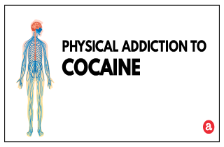 Physical addiction to cocaine