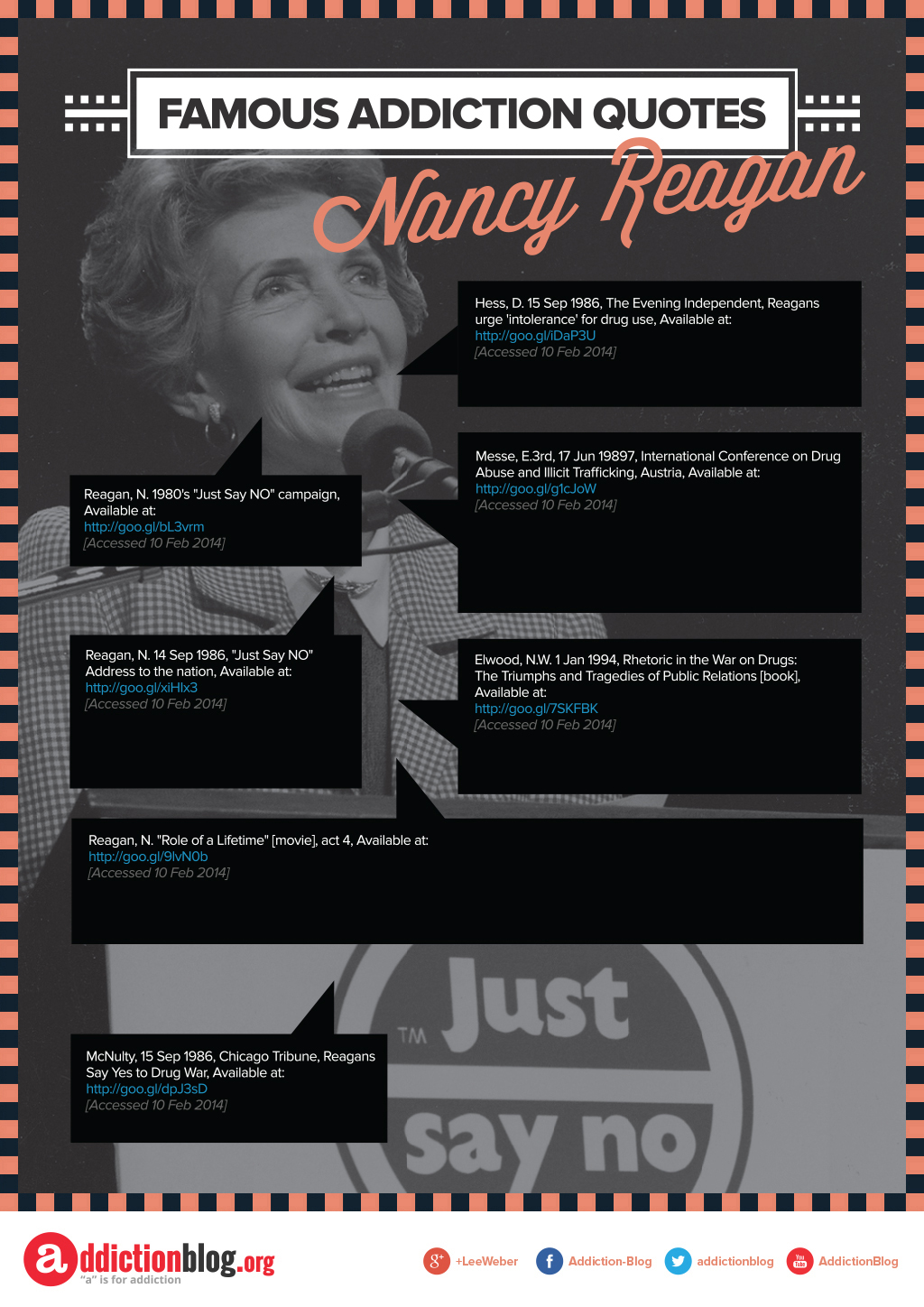 Famous Addiction Quotes Nancy Reagan [Reference Sources]