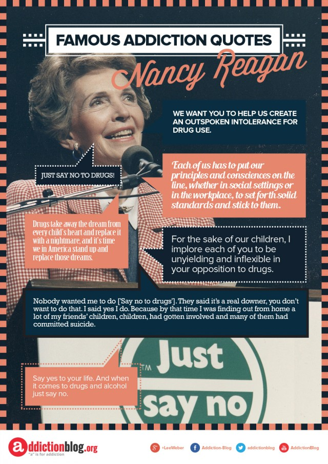 "Say ""No"" to Drugs Quotes from Nancy Reagan (INFOGRAPHIC)"