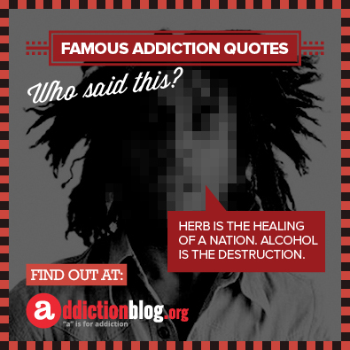 Bob Marley quotes about weed (INFOGRAPHIC)