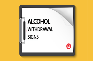 Alcohol withdrawal signs