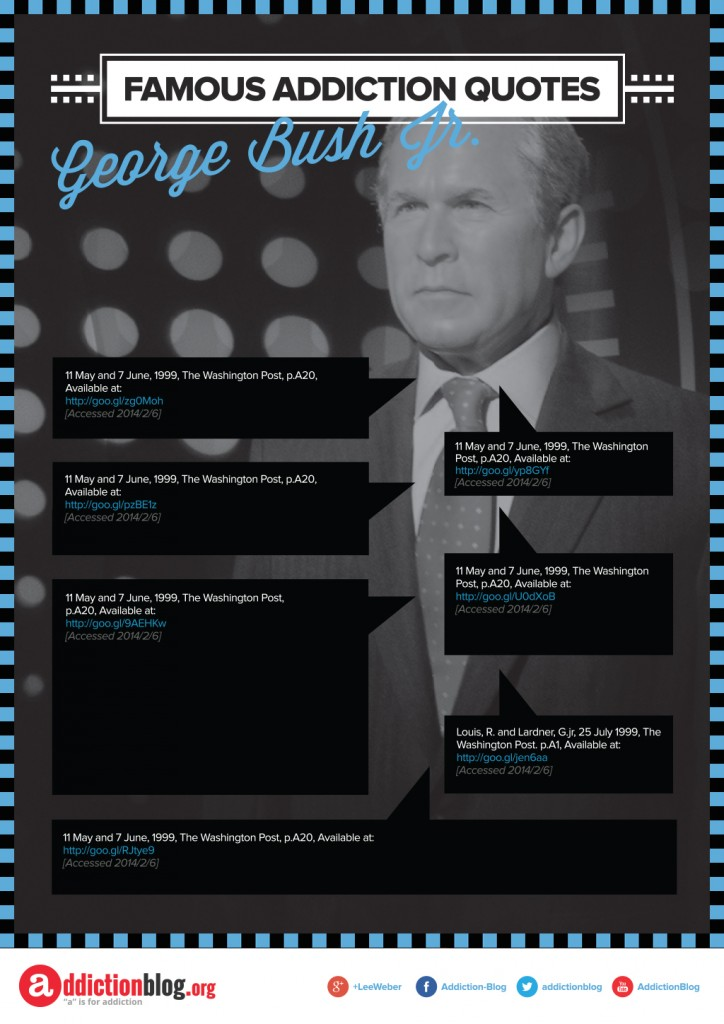 Famous Addiction Quotes George Bush [Reference Sources]