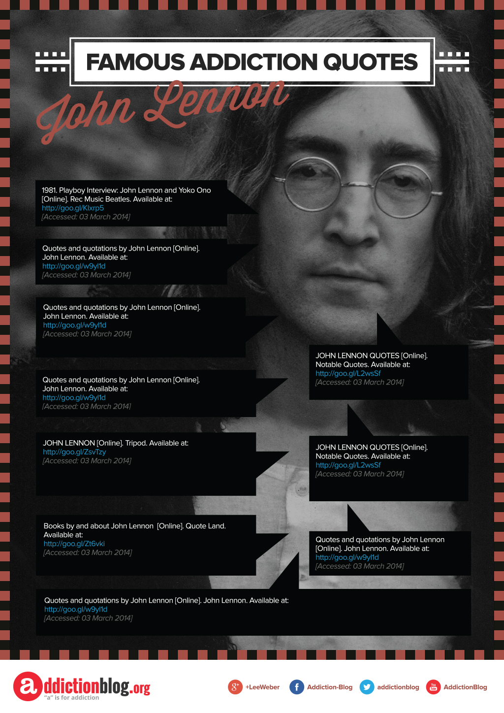 John Lennon Quotes About Drugs Infographic