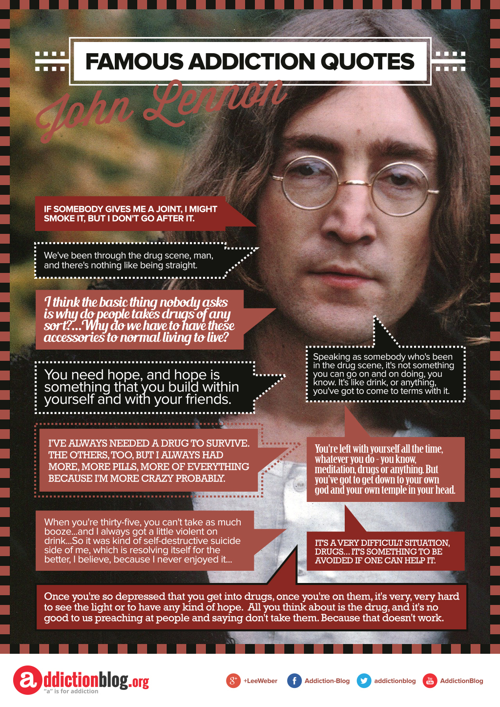 John Lennon quotes about drugs (INFOGRAPHIC)