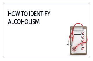 How to identify alcoholism