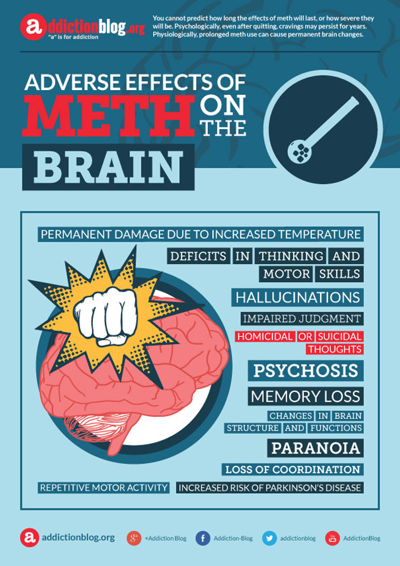 Adverse effects of meth on the brain (INFOGRAPHIC)