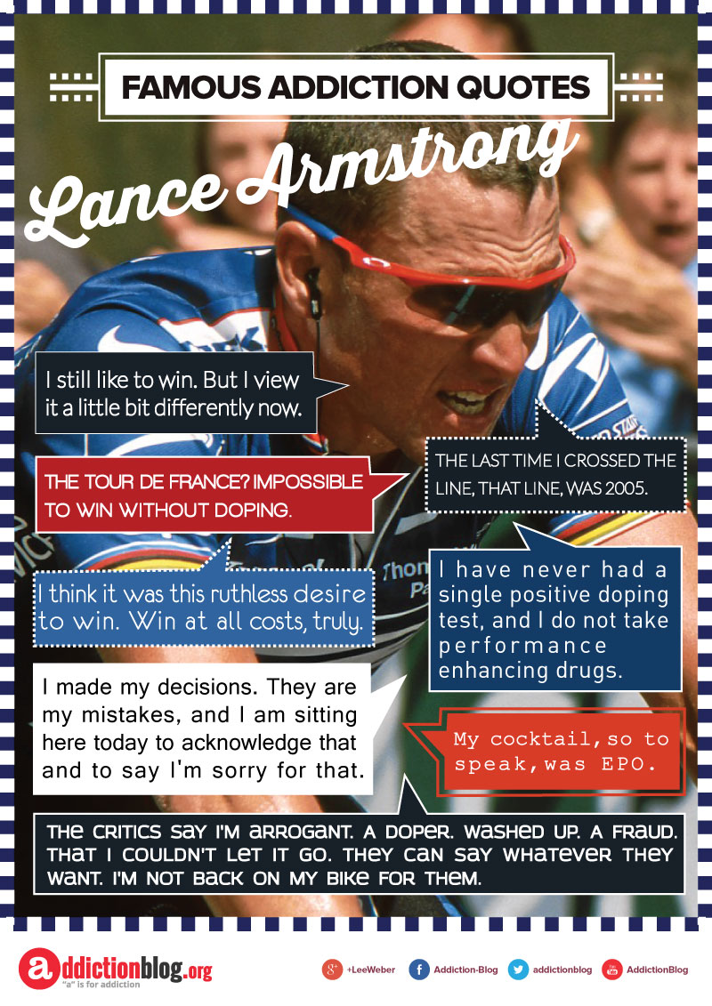 Lance Armstrong on doping and winning (INFOGRAPHIC)