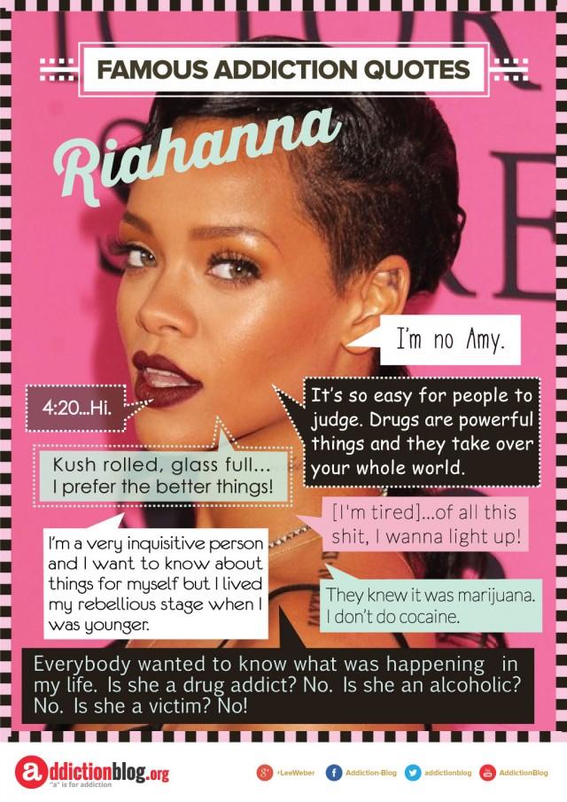 Rihanna quotes on drugs and smoking marijuana (INFOGRAPHIC)
