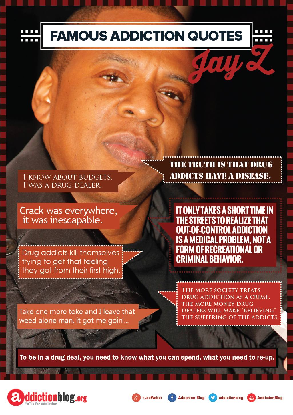 Jay Z quotes on drugs and addiction (INFOGRAPHIC)