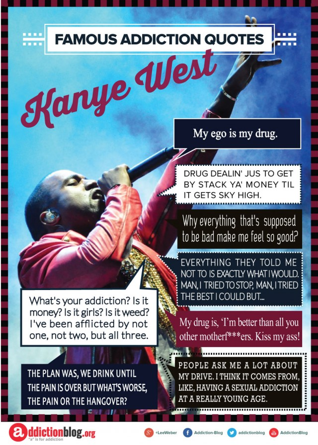 Kanye West quotes on drugs, alcohol and addiction (INFOGRAPHIC)