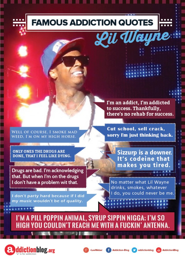 Lil' Wayne quotes on drugs and alcohol (INFOGRAPHIC)