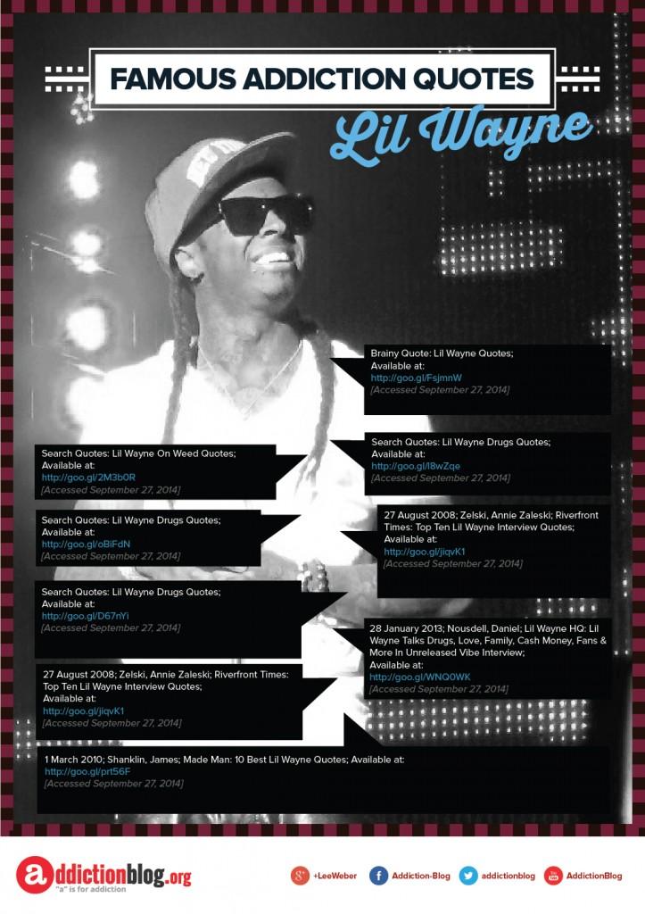 Lil Wayne Famous Addiction Quotes B&W