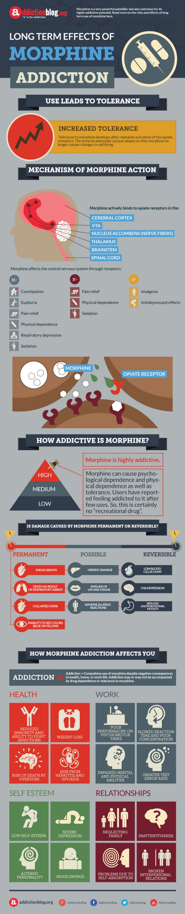 Effects of morphine abuse and addiction (INFOGRAPHIC)