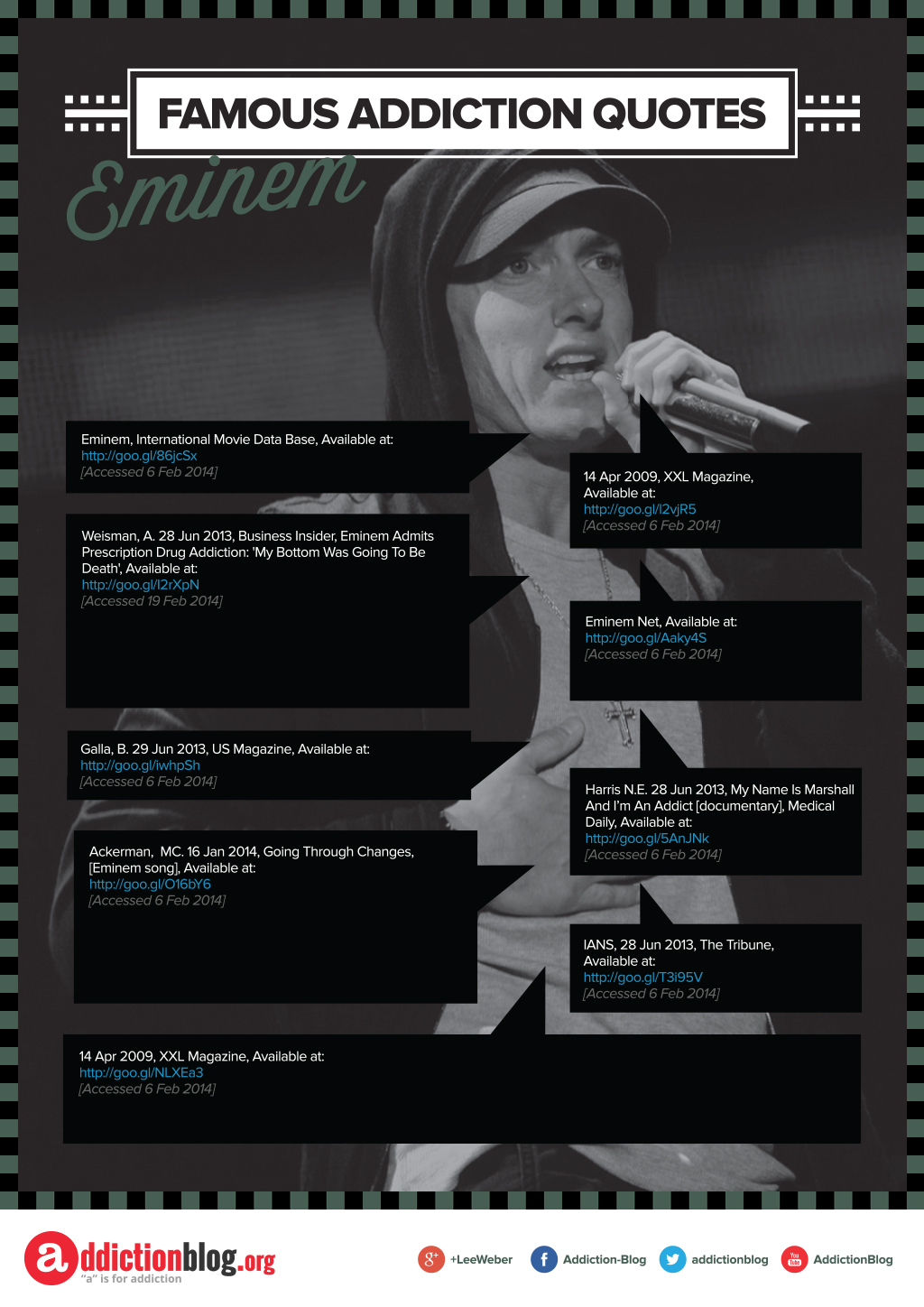 Eminem S Quotes On Drugs And Addiction Recovery Infographic