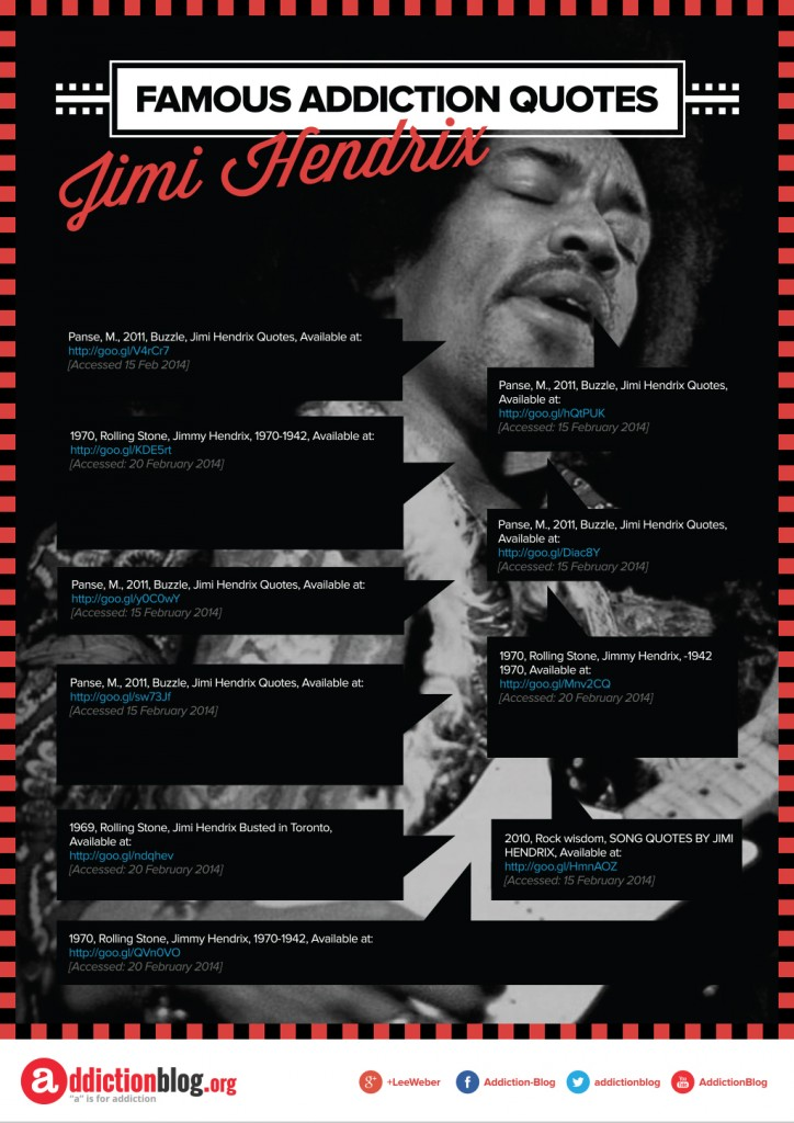 Famous Addiction Quotes Jimi Hendrix [Reference Sources]