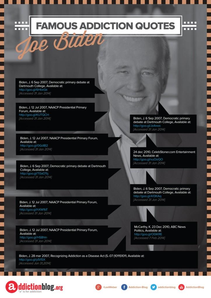 Famous Addiction Quotes Joe Biden [Reference Sources]