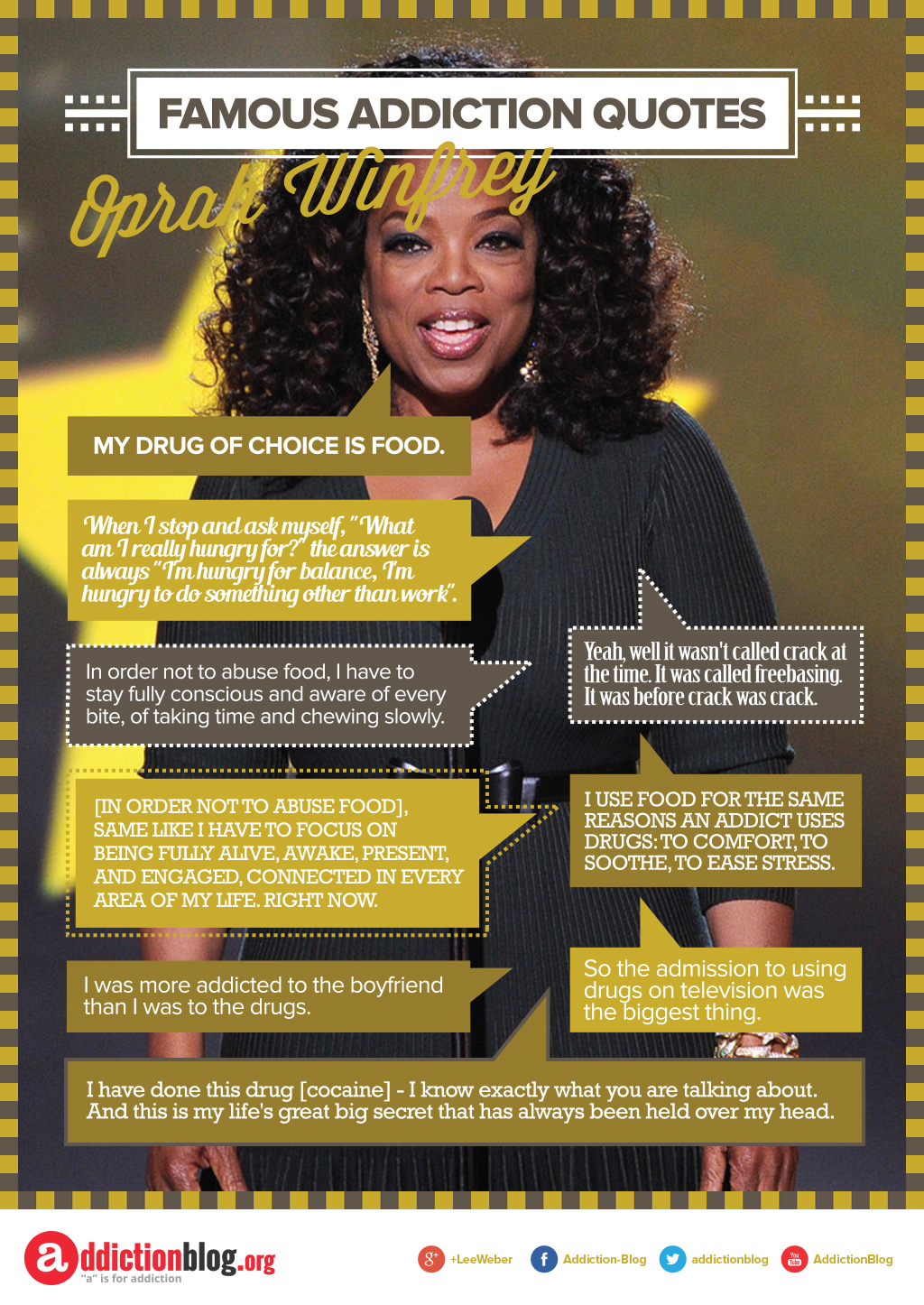 Oprah Winfery's quotes on food addiction (INFOGRAPHIC)