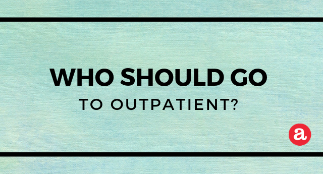 Outpatient rehab treatment: Who should attend?