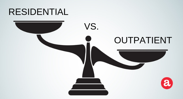 Residential alcohol rehab programs vs. outpatient