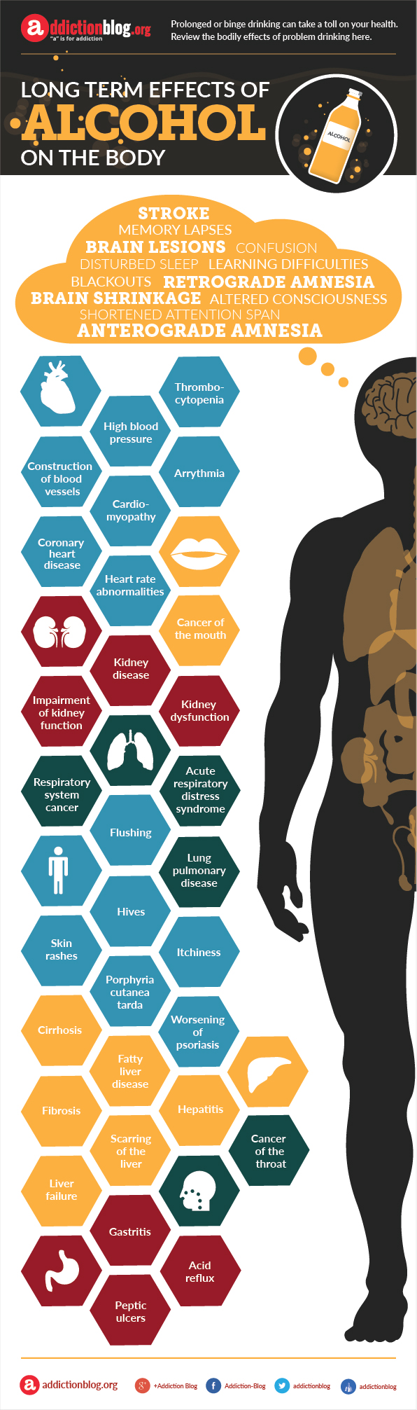 Long term effects of alcohol on the body (INFOGRAPHIC)