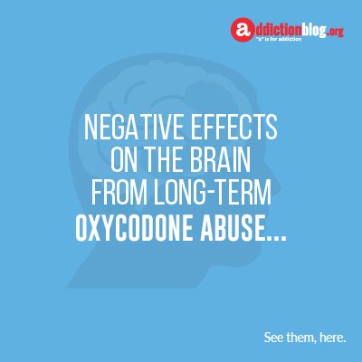 Effects of oxycodone on the brain  (INFOGRAPHIC)