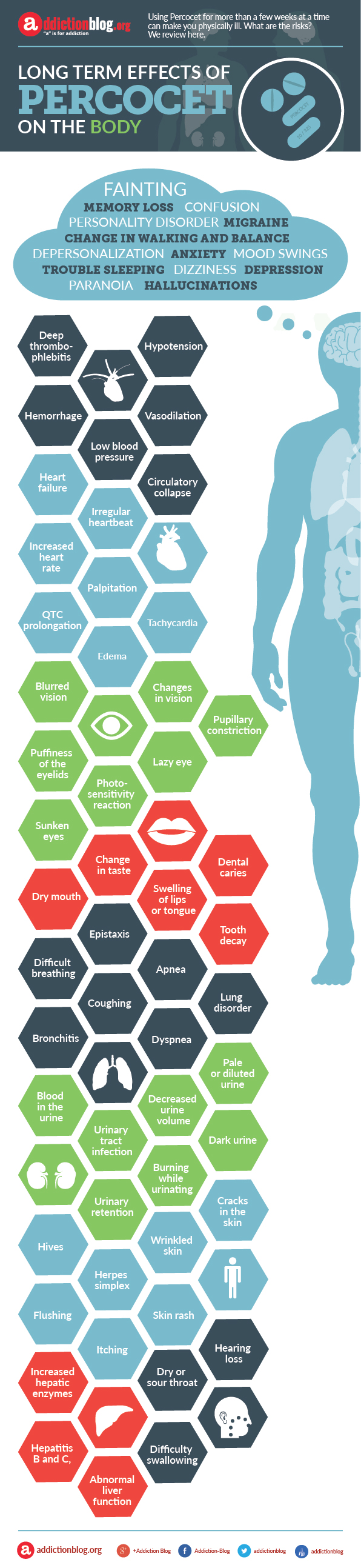 Long term physical effects of Percocet on the body (INFOGRAPHIC)