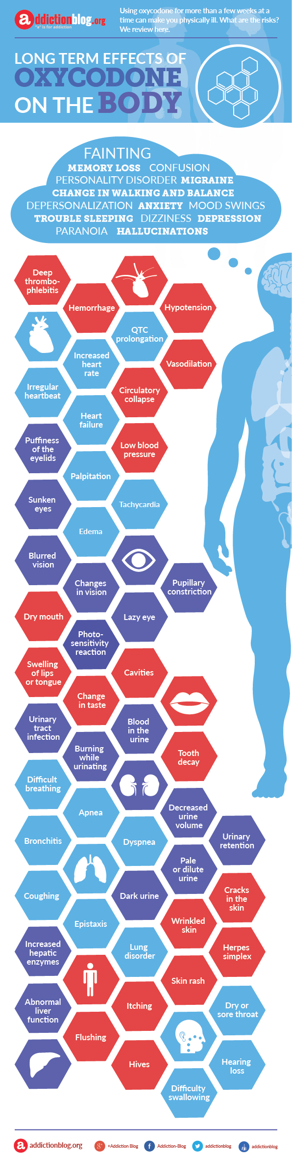 Oxycodone Effects on the Body after Long Term Use (INFOGRAPHIC)