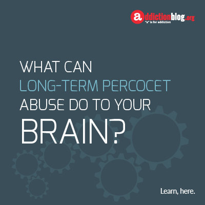 Effects on the brain from long term Percocet use (INFOGRAPHIC)