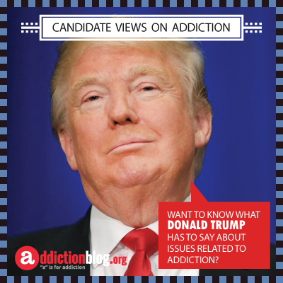 Donald Trump quotes on addiction, substance abuse, and The War on Drugs