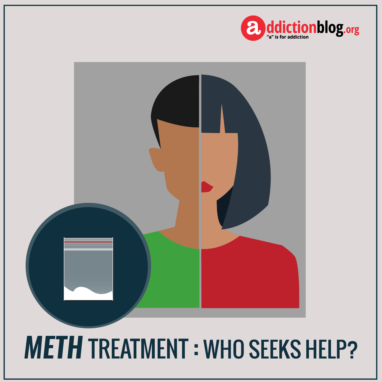 Meth treatment: Who gets help for methamphetamine addiction? (INFOGRAPHIC)