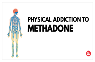 Physical addiction to methadone