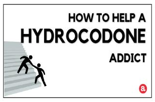 How to help a hydrocodone addict?