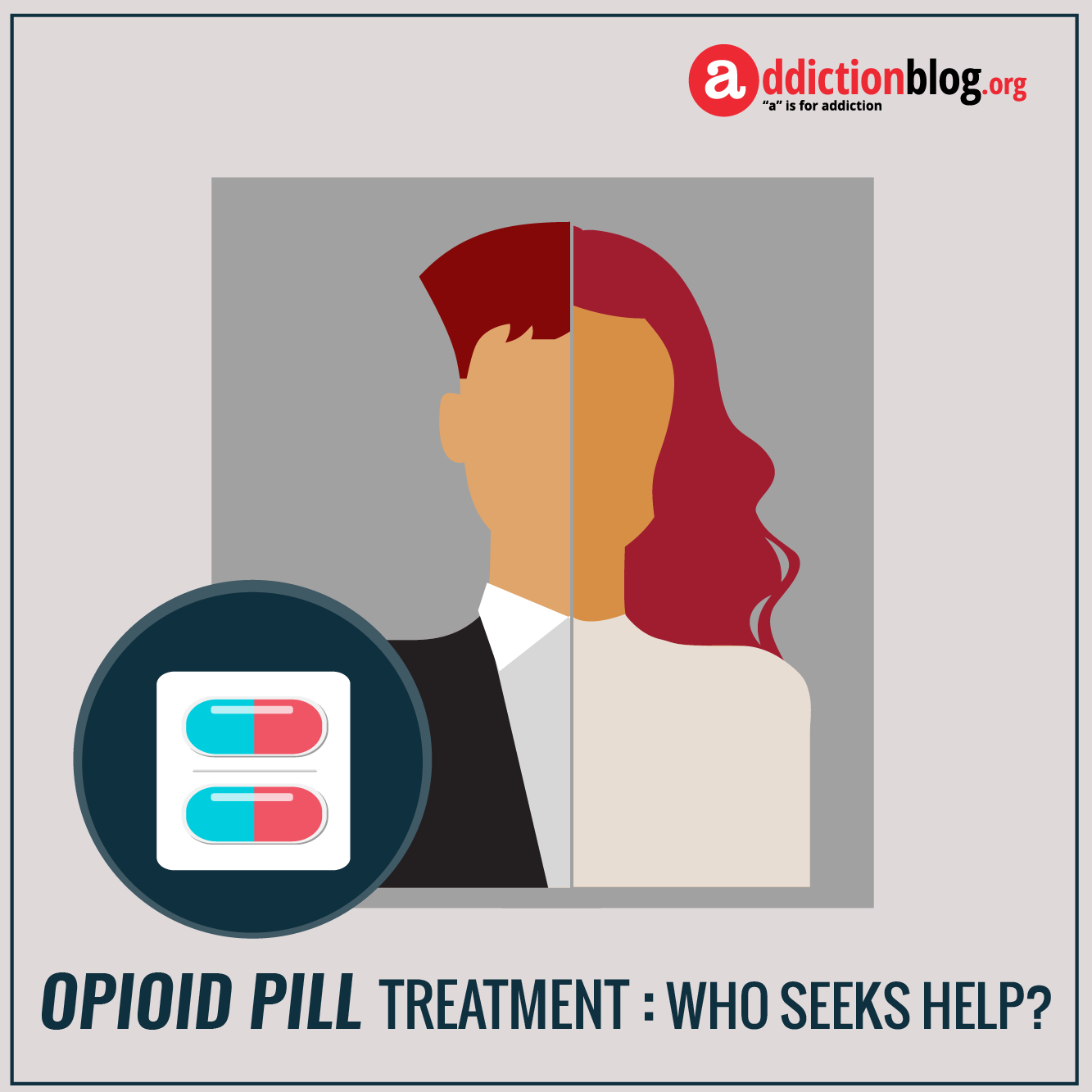 The face of opioid painkiller addiction treatment: Who seeks help? (INFOGRAPHIC)