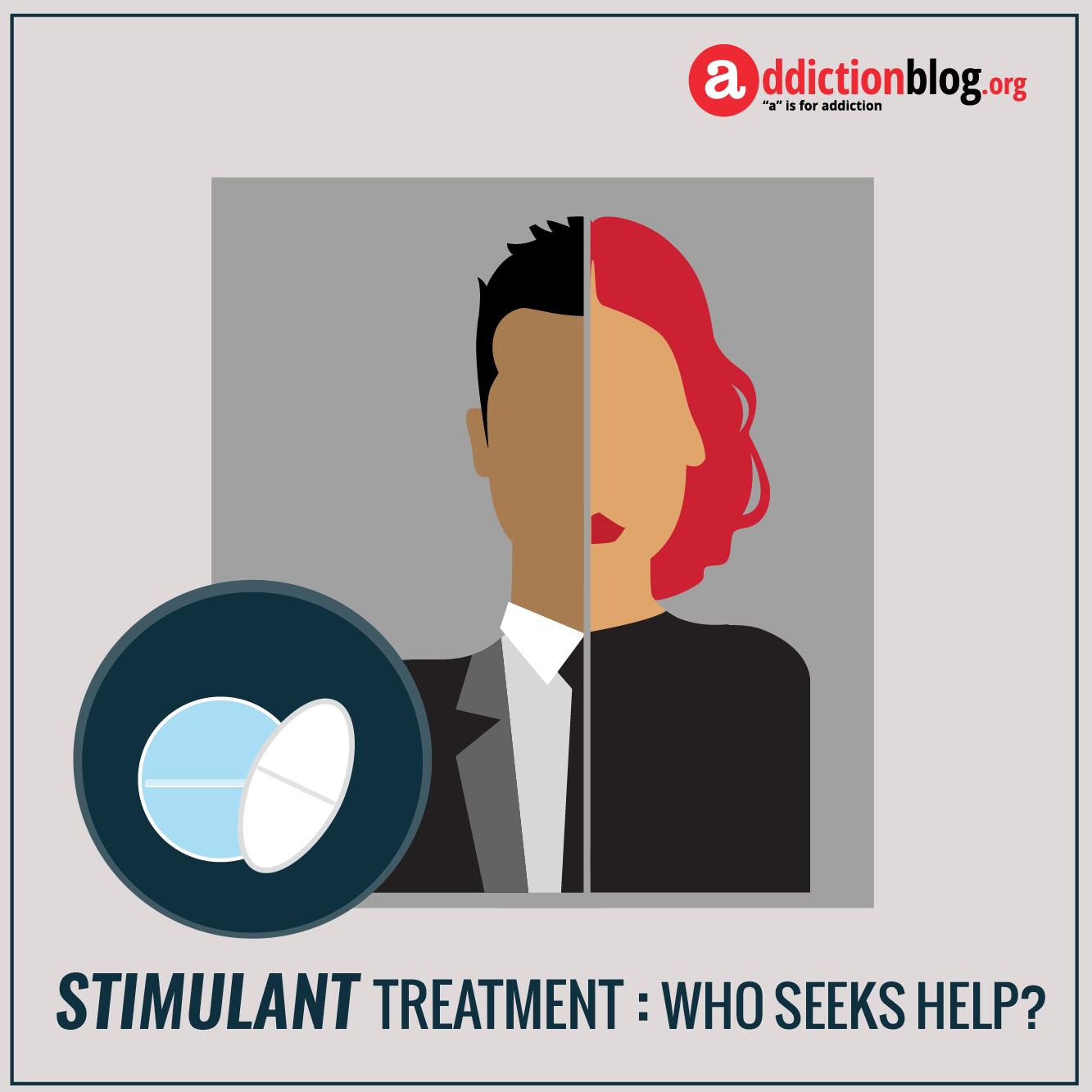 Stimulants addiction treatment: Who seeks help for stimulant drug abuse? (INFOGRAPHIC)
