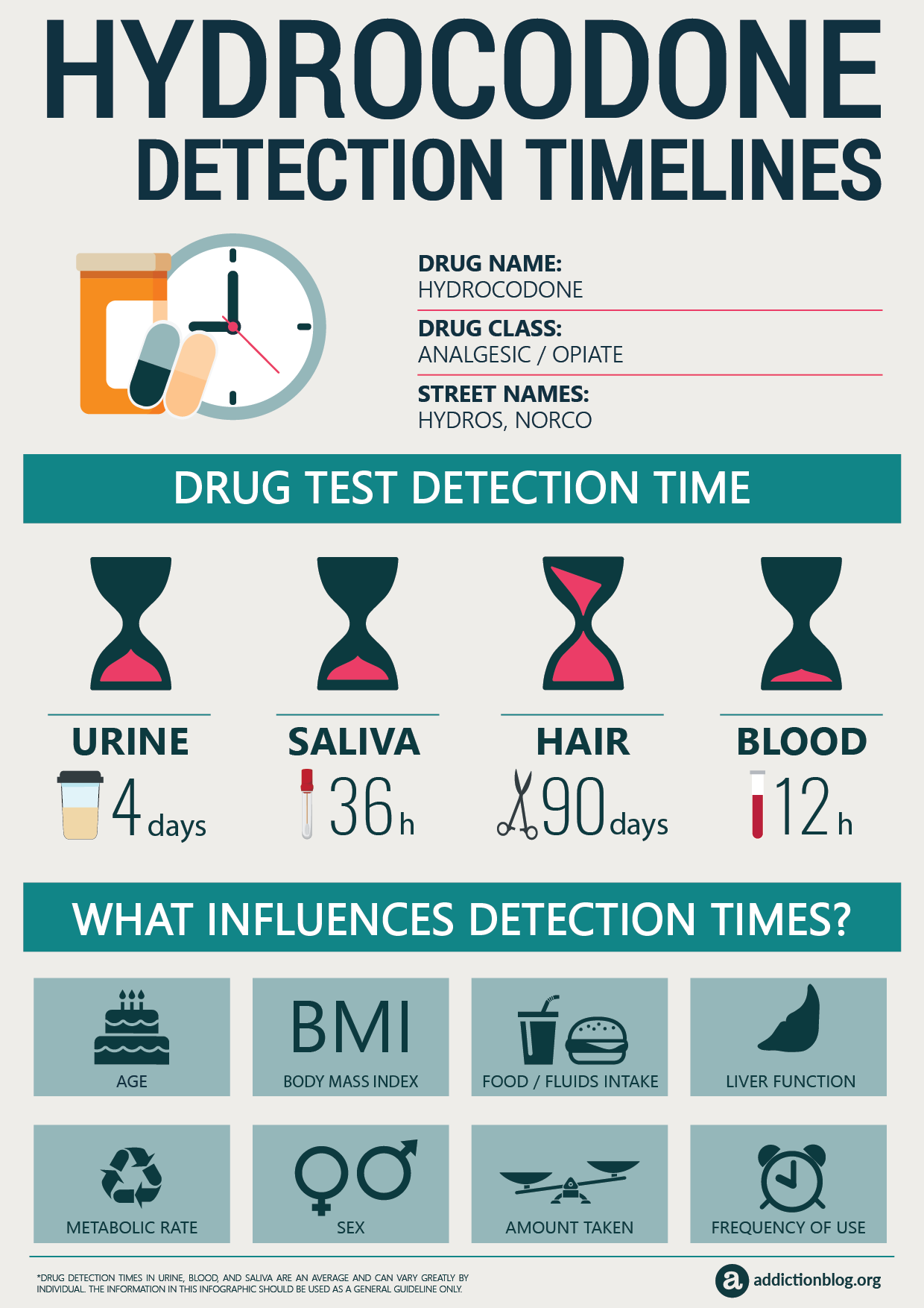 Hydrocodone Detection Timeline [INFOGRAPHIC]